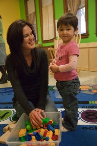Carolina Mendez and her two-year-old daughter at our Larkins ELC