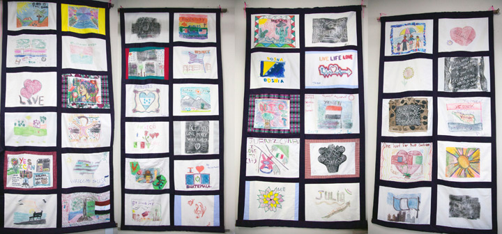 Quilts created and installed at the Adult Learning through an arts workshop funded by the Michigan Council for Arts and Cultural Affairs (MCACA).